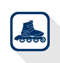 Inline roller flat icon vector