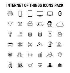 Internet things icons pack vector