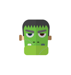 Isolated zombie flat icon monster element vector