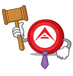 Judge ark coin mascot cartoon vector