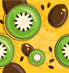 Kiwi background vector