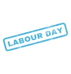 Labour day rubber stamp vector
