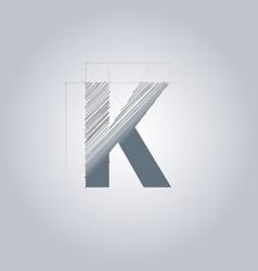 Letter k logo alphabet logotype architectural vector