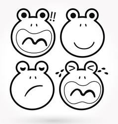 Lfrog icon vector