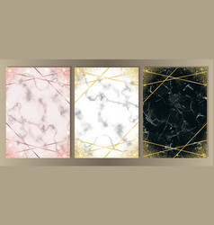 luxury glitter and marble set vector image