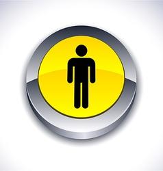 Male 3d button vector