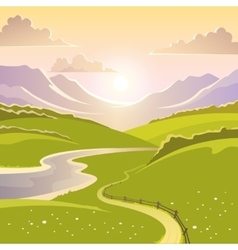 Mountain Landscape Background vector