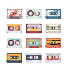 music cassettes electronics audio player mixtape vector image