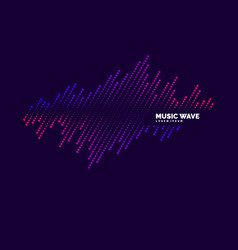 Music wave in form of vector