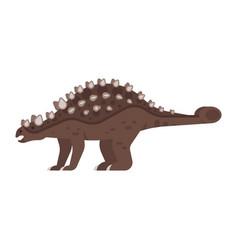 prehistoric animal - ankylosaurus vector image