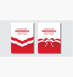 Premium background indonesian independence day vector