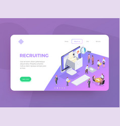 recruiting website page background vector image