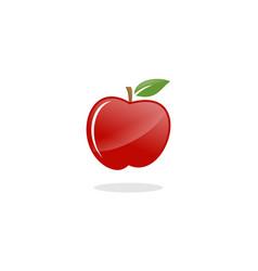 red apple fruit logo vector image