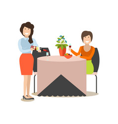 restaurant guest in flat style vector image