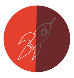 rocket technology science creativity design icon vector image