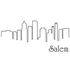 salem city one line drawing vector image