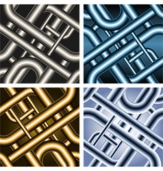Seamless pipe pattern vector image