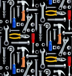 Seamless repair tools pattern vector image