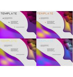 Set of template design for brochure annualreport vector