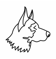 Shepherd dog icon outline style vector