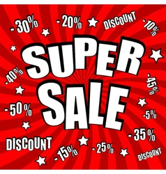 Super sale comic poster vector