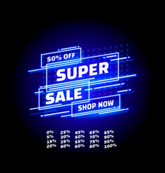 super sale off shop new neon banner set collection vector image