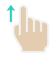 swipe up flat icon touch and hand gestures vector image