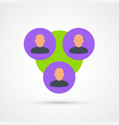 Target audience trendy symbol trendy colored vector