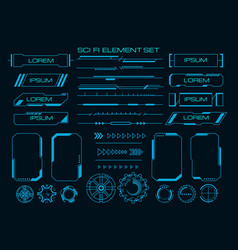Techno cyber ux elements vector