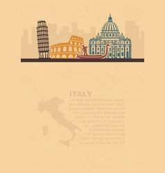 Template leaflets with a map and vector