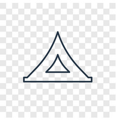 Tent toy concept linear icon isolated on vector