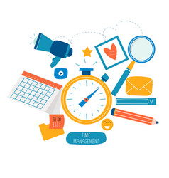 Time management planning events organization vector