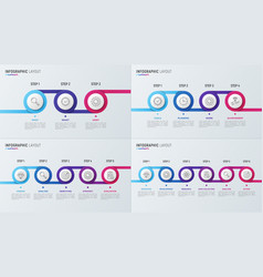 timeline chart infographic designs for data vector image