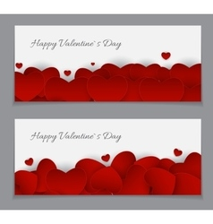 Valentine s Day Heart Card Love and Feelings vector image