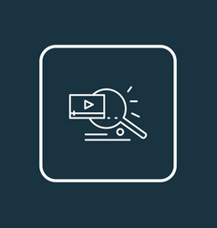 Video search icon line symbol premium quality vector