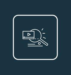 video search icon line symbol premium quality vector image