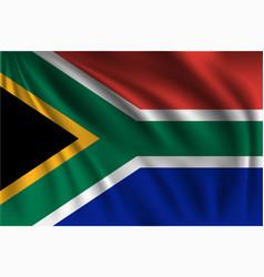 Waving republic south africa vector