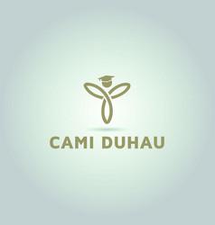 Yoga logo education and learning logo vector