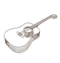 acoustic guitar vector image vector image