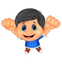 Boy cartoon posing vector image