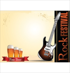Rock festival free beer vector image