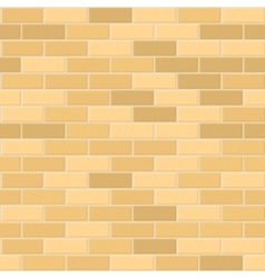 Seamless Pattern of Yellow Brick with Light Seam vector image
