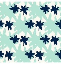 Seamless pattern with mint aqua star stains vector
