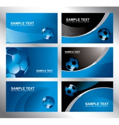 various soccer card vector image vector image