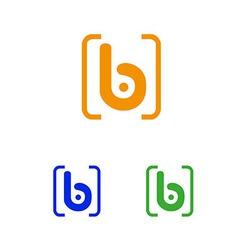 Business logo design sign the letter b branding vector