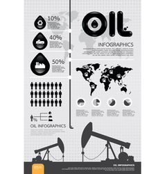 infographic oil of the world vector image