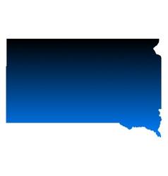 Map of South Dakota vector image vector image
