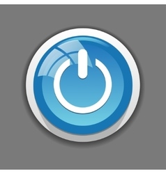 On off icon button for web vector image