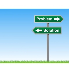 Road sign problems and solutions vector image