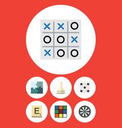 Flat icon entertainment set of arrow jigsaw vector